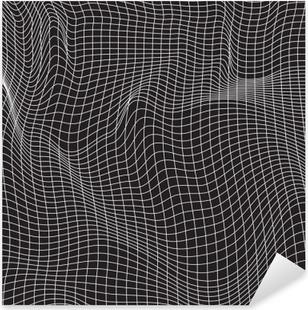 Pixerstick-klistremerke Hvite linjer, abstraksjonssammensetning, fjell, vektordesign bakgrunn