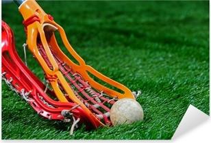 Pixerstick-klistremerke Jenter Lacrosse pinner kjemper for ballen