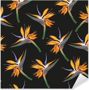 Pixerstick-klistremerke Jungle blomster sømløs