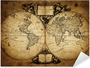 Pixerstick-klistremerke Kart over verden 1752