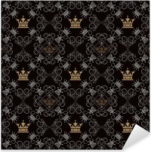 Pixerstick-klistremerke Kongelig bakgrunn, sømløs mønster