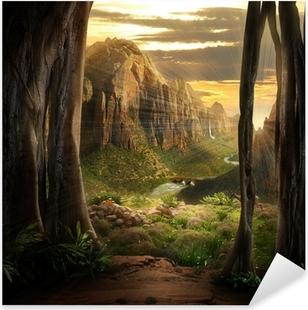 Pixerstick-klistremerke Phantasy Landscape