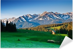 Pixerstick-klistremerke Polsk Tatra fjell panorama om morgenen
