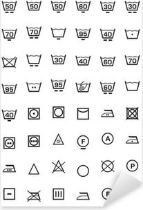 Pixerstick-klistremerke Sett ikon lavaggio e lavatrice