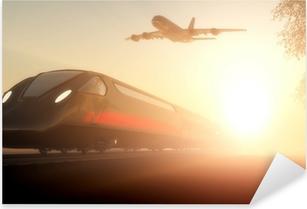 Pixerstick-klistremerke Toget og flyet