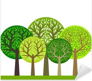 Pixerstick-klistremerke Trær gruppe