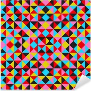 b2fd07ea Pixerstick-klistremerke Sømløs geometrisk mønster fra trekanter av ...