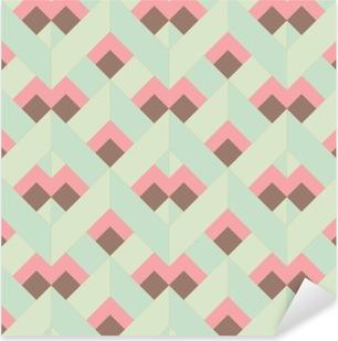 Pixerstick-klistremerke Vector Fargerikt abstrakt retro sømløs geometrisk mønster