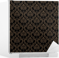 Fototapete nahtlose damast tapeten 3 black goldene farbe u2022 pixers