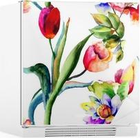 Poster naadloze behang met zomerbloemen u2022 pixers® we leven om te