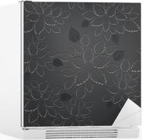 Poster naadloze zwarte bladeren kant behang patroon u2022 pixers® we