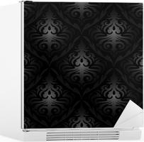Fotobehang naadloze zwarte zijden behang patroon u2022 pixers® we