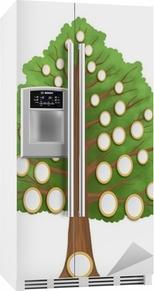 Koelkaststicker Stamboom met lege ovale frames
