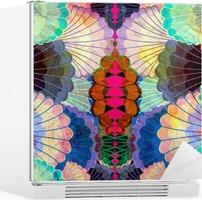 Akvarel flerfarvede abstrakte elementer Køleskab Klistermærke