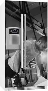 Crossfit fitness TRX push ups mand træning Køleskab klistermærke