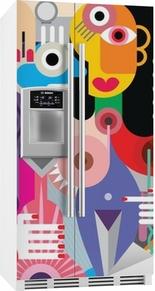 Mand og kvinde Køleskab Klistermærke