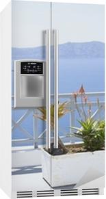 Middelhavet terrasse Køleskab klistermærke