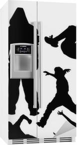 Parkour vektor Køleskab klistermærke