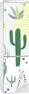 Problemfri mønster med succulenter. Køleskab Klistermærke