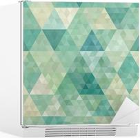 Sømløs baggrund med abstrakt geometrisk ornament Køleskab Klistermærke