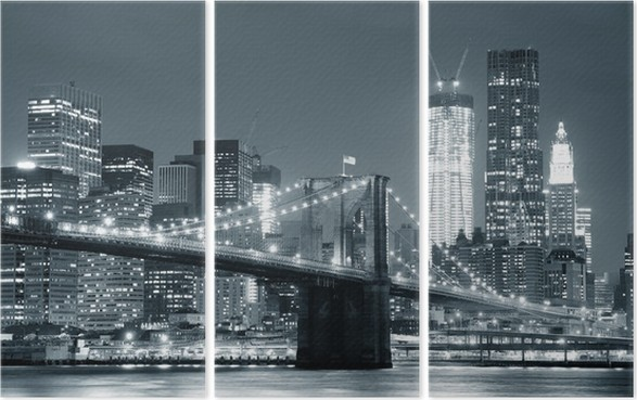 New york city brooklyn silta Kolmiosainen -