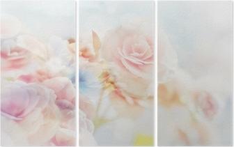 Romanttiset ruusut vintage-tyylillä Kolmiosainen
