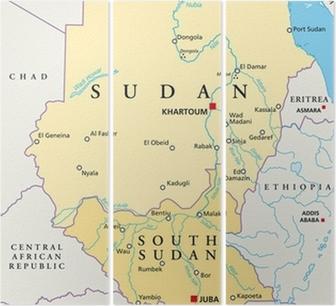 Sudanin Kartta Sudan Landkarte Juliste Pixers Elamme