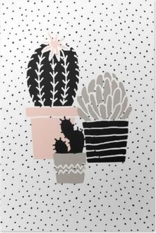 Käsin piirretty kaktus juliste Korkealaatuinen Juliste