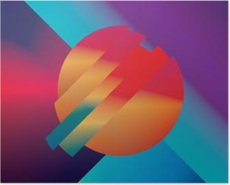 Materiaalikuvio abstrakti vektori tausta geometriset isometriset muodot. eloisa, kirkas, kiiltävä värikäs symboli taustakuvaan. Korkealaatuinen Juliste