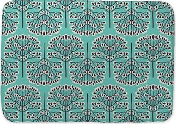 Koupelnová předložka Seamless pattern lesní
