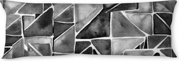 Kroppskudde Akvarell trianglar sömlösa mönster. modernt sömlöst mönster. svartvit textur i geometrismall. grunge mönster. retro triangel bakgrund.