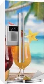 Kühlschrankaufkleber Cocktails am Strand