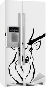 Kühlschrankaufkleber Deer isoliert