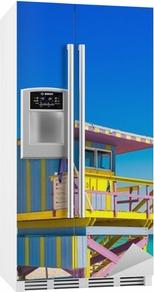 Kühlschrankaufkleber Lifeguard Tower in South Beach, Miami Beach, Florida