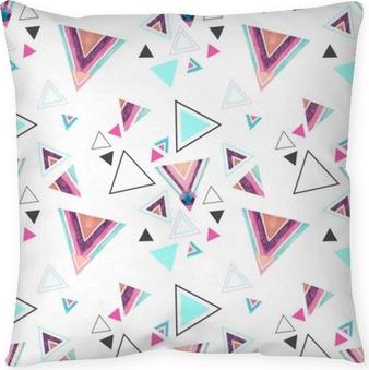 Kussensloop Abstract aquarel driehoek naadloze patroon.