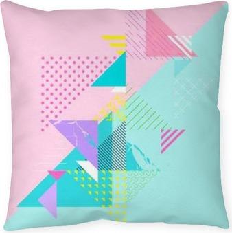 Kussensloop Abstracte kleurrijke geometrische compositie