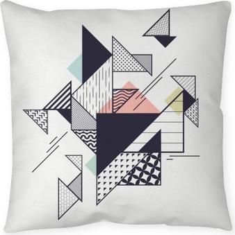Kussensloop Abstracte moderne geometrische compositie
