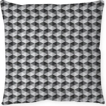 Kussensloop Abstracte retro geometrisch patroon zwart en wit kleurtint vect