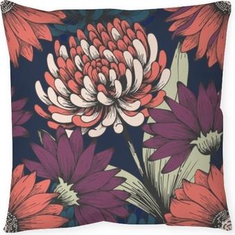 Kussensloop Bloemen in de nachttuin. handtekening. elegant bloemenpatroon