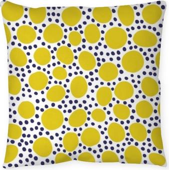 Kussensloop Naadloos patroon met moderne bloemen en abstracte elementen in verse pastelkleuren.