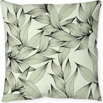 Kussensloop Vector naadloze patroon met takken en bladeren. handtekening. decoratief patroon voor het ontwerp