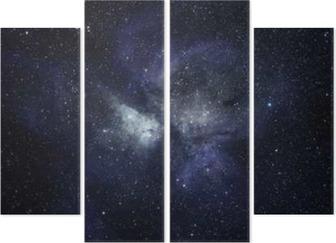 Kwadryptyk Niebieskie tło przestrzeni