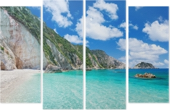 Kwadryptyk Plaża Petani, Kefalonia, Grecja