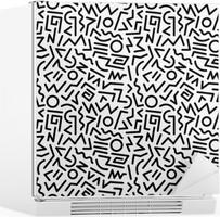 Kylskåpsdekor 80s pattern