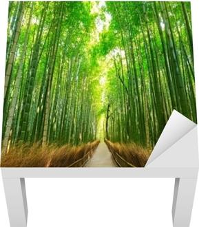 Lack-bord finér Arashiyama bambus skog i Kyoto, Japan.