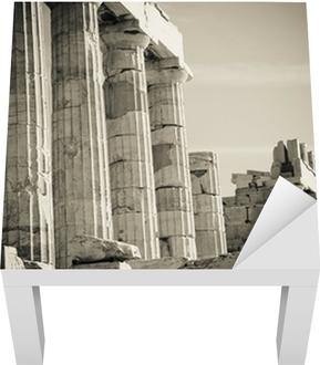 Lack-bord finér Greske kolonner
