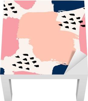 Lack-Bord Finér Hånd tegnet abstrakt sømløs mønster