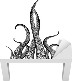Lack-Bord Finér Hånddrakte tentakler