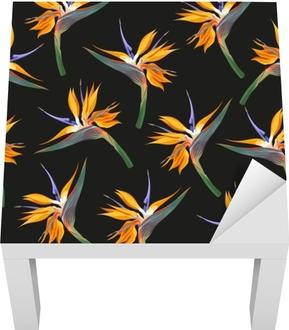Lack-bord finér Jungle blomster sømløs