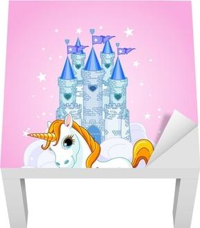 Lack-bord finér Slott og Unicorn